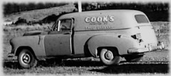 Cook's delivery truck